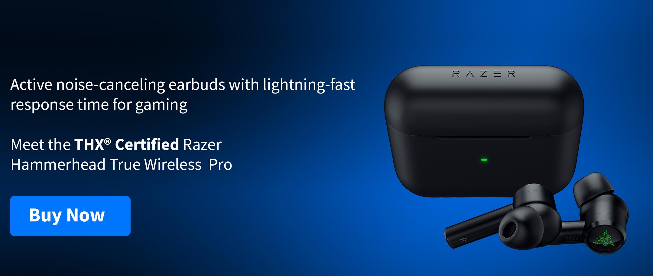 Razer Hammerhead Truewireless Pro headphones