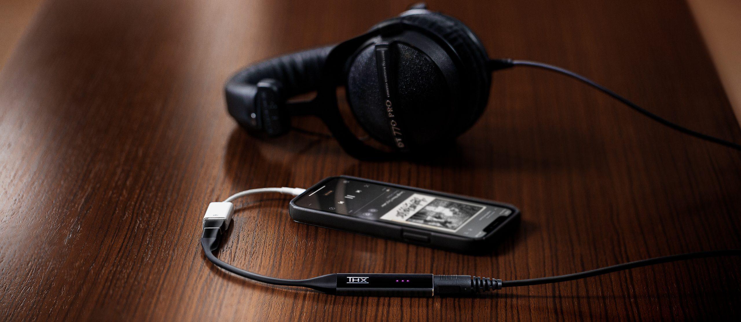 THX Onyx DT 770 Pro Headphones & iPhone 2560x1112